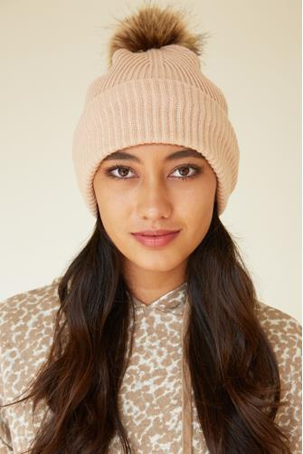 Face Covering Beanie NUDE