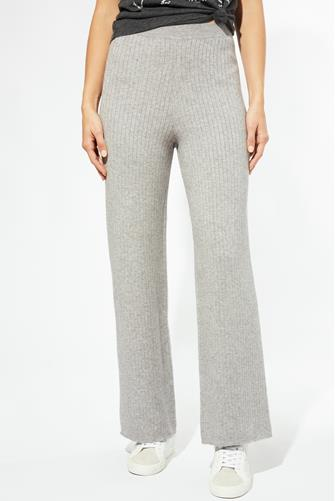Rib Knit Wide Leg Pant GREY