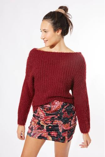 Rae Off The Shoulder Sweater WINE
