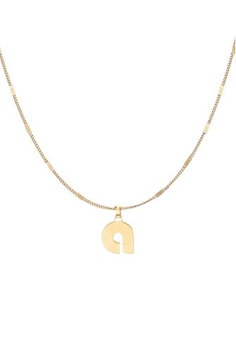 A Modernist Monogram Pendant Necklace GOLD