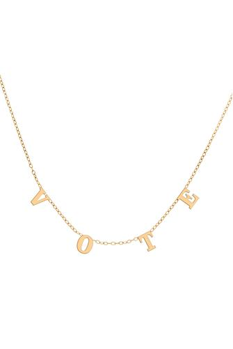 Vote Necklace GOLD