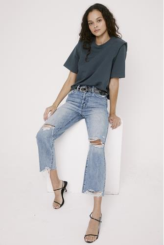 Cassie Super Hi Rise Straight Leg Crop Jean in Los Feliz LIGHT-DENIM--