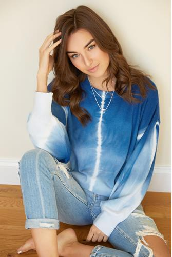 Tie Dye Crewneck Sweatshirt BLUE
