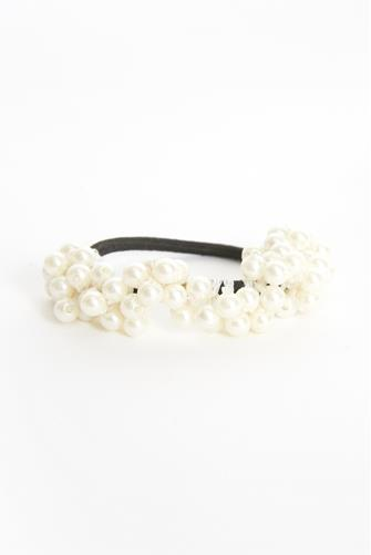 Pearl Hair Tie Two Pack BLACK-MULTI--