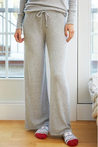 Grey Rib Thermal Lounge Pant GREY