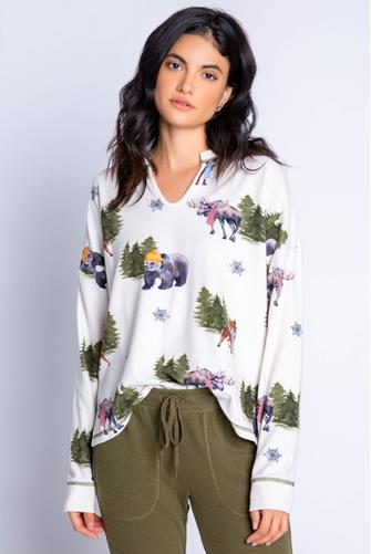 Into The Wild Thermal Long Sleeve Top MULTI