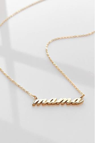Mama Script Necklace GOLD