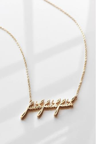 FFF Script Necklace GOLD