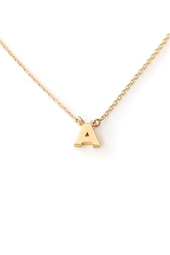 INITIAL NECKLACE - A GOLD