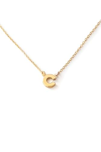 C Initial Necklace GOLD