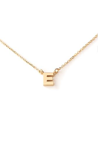 E Initial Necklace GOLD