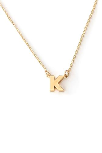 K Initial Necklace GOLD