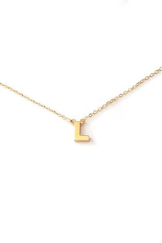 L Initial Necklace GOLD