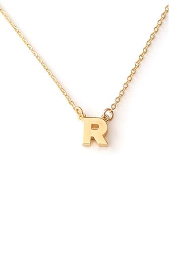R Initial Necklace GOLD