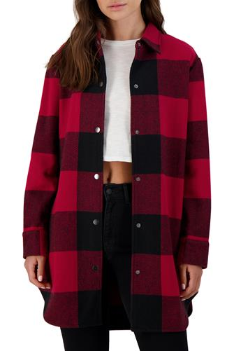 Eldridge Red Plaid Coat RED-MULTI--