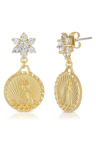 Helper Coin Earrings GOLD