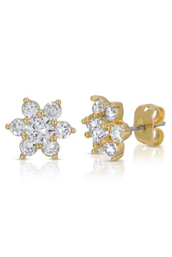 In Bloom Stud Earrings CLEAR