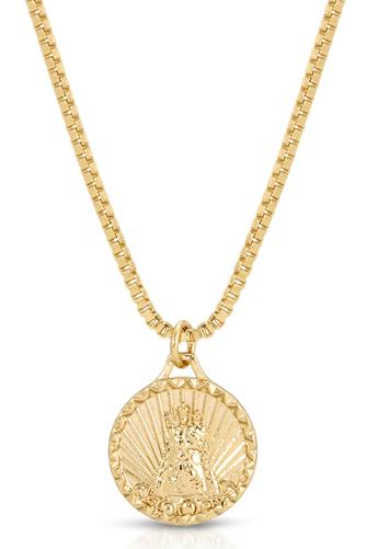 Helper Coin Pendant Necklace GOLD