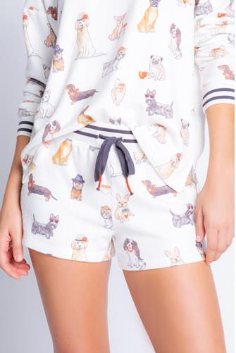 Coffee & Canines Short WHITE-MULTI--