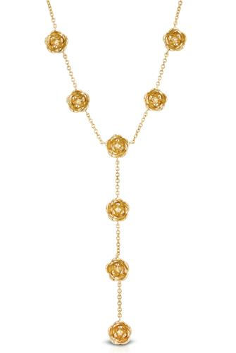 Rosa Lariat Necklace GOLD