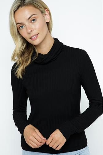 Face Covering Turtleneck BLACK