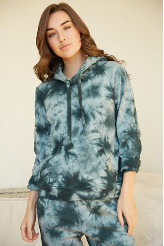 Green Multi Tie Dye Hoodie GREEN-MULTI--