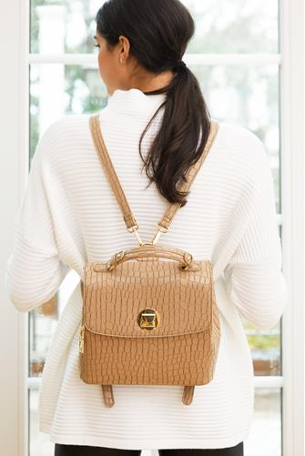 Layne Croc Backpack NATURAL