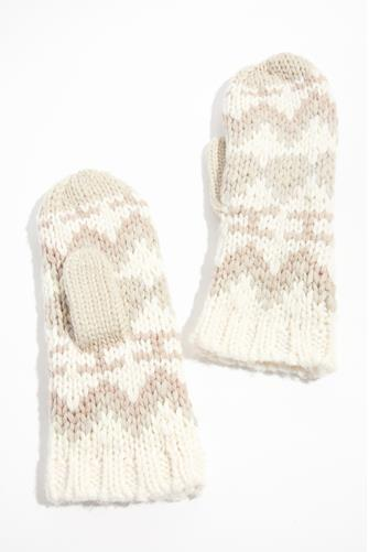 Fair Isle Mittens CREAM