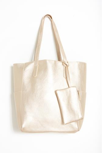 Gold North South Bella Tote Bag GOLD