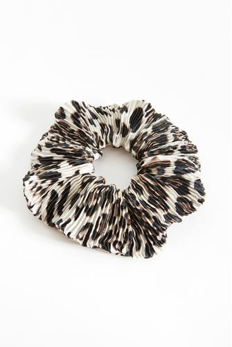 White Multi Leopard Print Scrunchie WHITE MULTI -