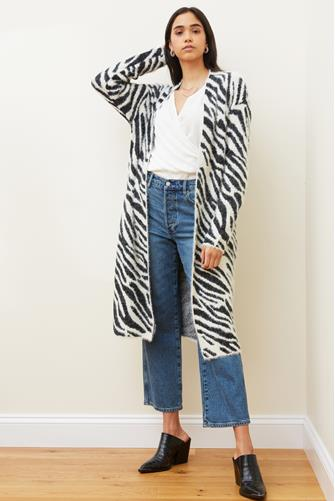Black Zebra Cardigan BLACK-MULTI--
