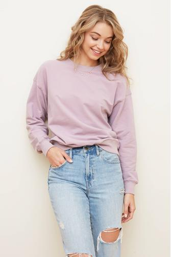 Stay Home Club Sweatshirt LILAC