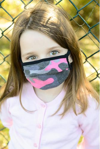 Kids Pink Camo Face Mask CAMO