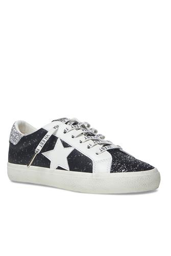 North Black Glitter Sparkle Sneaker BLACK