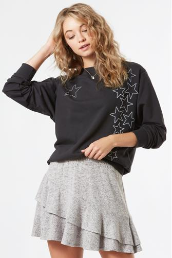 Star Graphic Sweatshirt BLACK