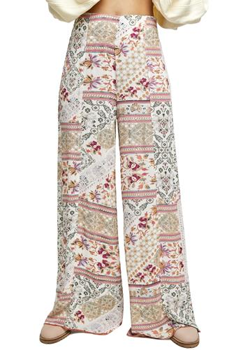 Wide Open Spaces Wide Leg Pant WHITE MULTI -
