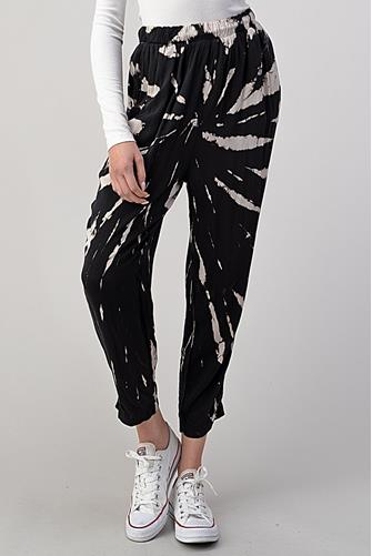 Woven Tie Dye Jogger BLACK-MULTI--