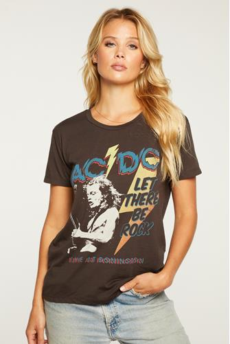 ACDC Let There Be Rock Graphic Tee BLACK