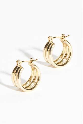 Small Gold Triple Hoop Earrings GOLD