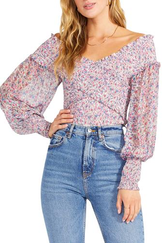 Smock Factor Top BLUE MULTI -