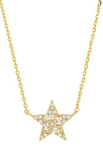 Gold Pave Star Necklace GOLD