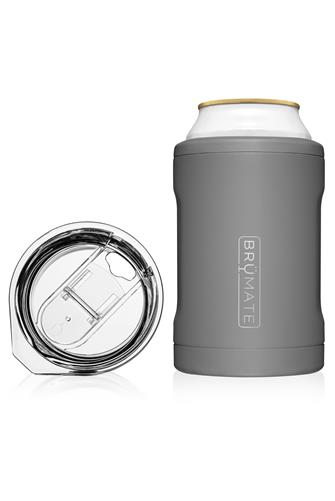 Matte Grey Hopsulator Duo Can Cooler GREY