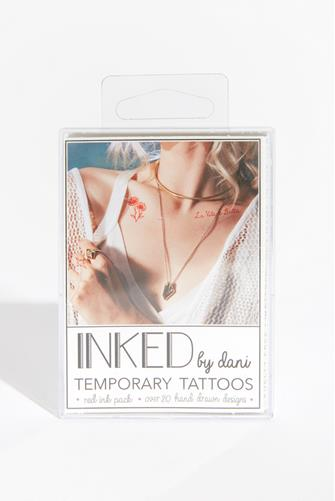 Temporary Tattoos Red Ink Pack RED