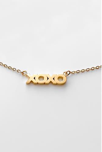 XOXO Script Necklace GOLD