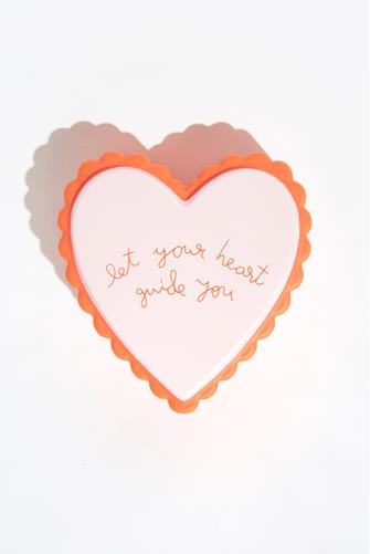 Let Your Heart Guide You Stress Ball PINK