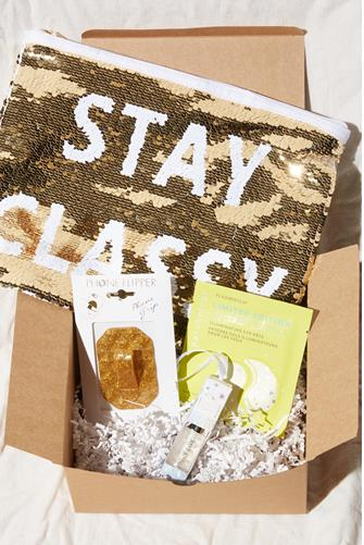 Gold Holiday Glitter Beauty Box GOLD