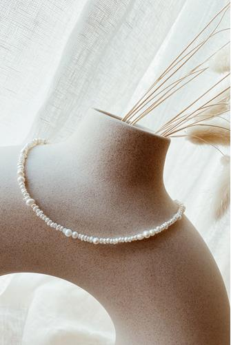 Zalia Small Pearl Choker Necklace PEARL