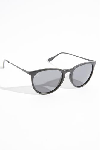 Mary Jane Matte Black Polarized Sunglasses BLACK