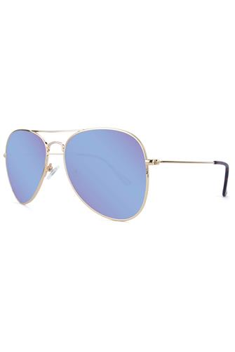 Mile Highs Gold & Snow Opal Polarized Aviator Sunglasses GOLD
