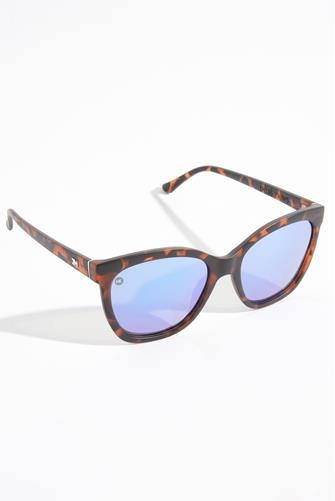 Deja Views Matte Tortoise Shell & Snow Opal Polarized Sunglasses TORTOISE